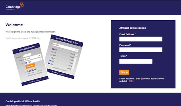 Cambridge FX - Affiliates Portal