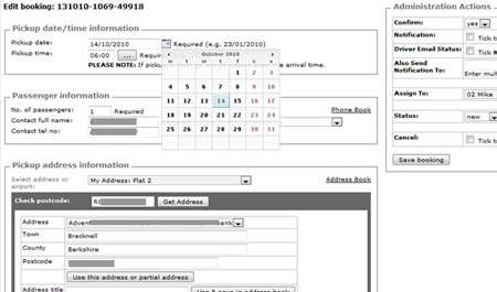 Web app Booking manager