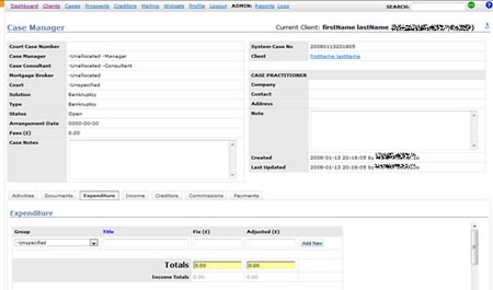 Web app Case manager