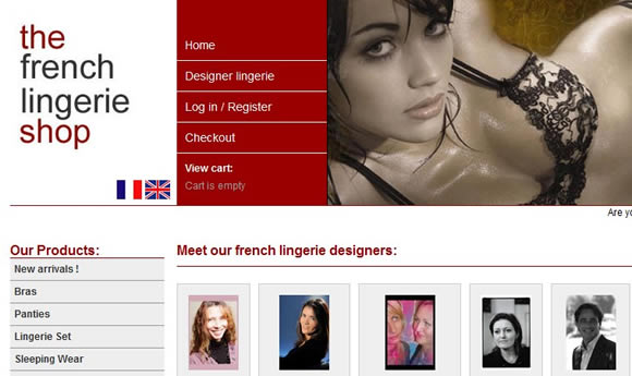 French Lingerie Shop : <a href='http://www.frenchlingerieshop.com' target='portfolio'>http://www.frenchlingerieshop.com</a>